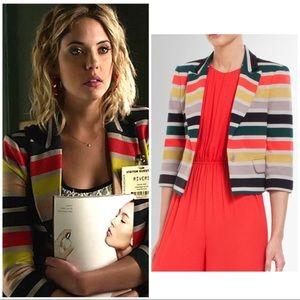 """BCBG MaxAzria """"Natalia"""" striped blazer jacket XS"""